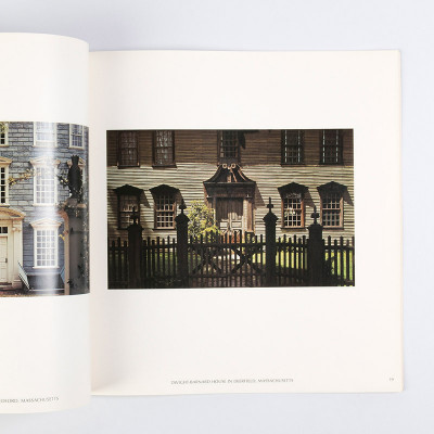 Each page of the book contains a full color photograph, framed to the very center of the page, each with slide title at the foot