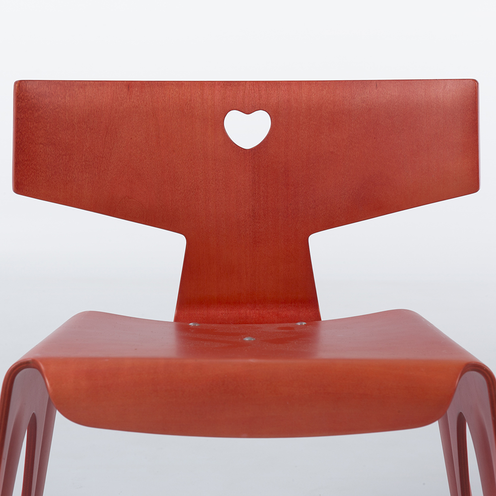 Red 2004 Vitra Eames Nested Chair (Heart Chair) Furniture in excellent condition