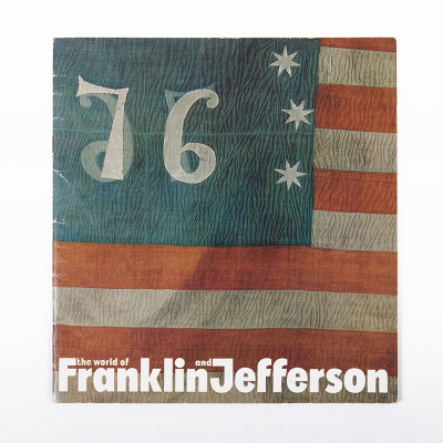The original cover of the Franklin & Jefferson companion book featured the American revolutionary flag