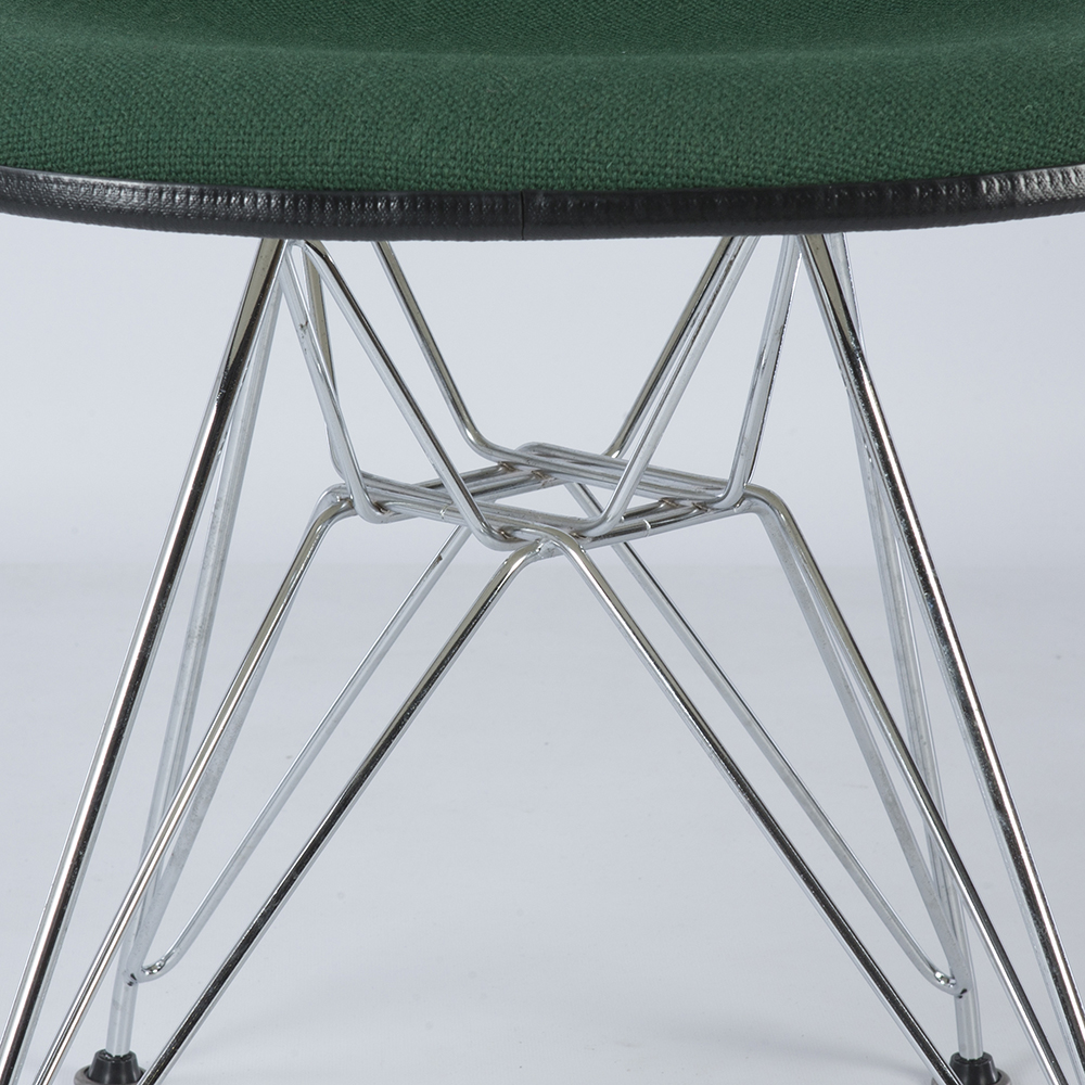 Green 1970s Herman Miller Eames DSR Eiffel Side Chairs in very good condition