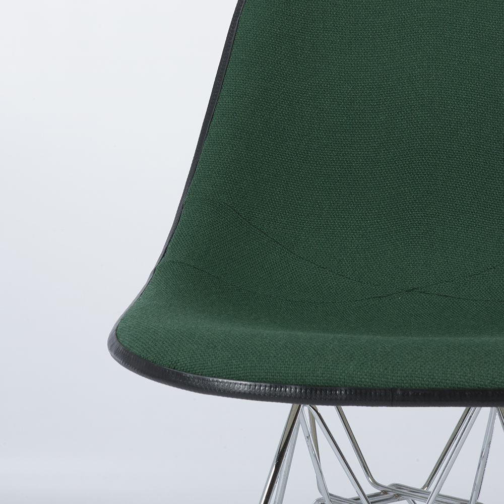 Green 1970s Herman Miller Eames DSR Eiffel Side Chairs in excellent condition