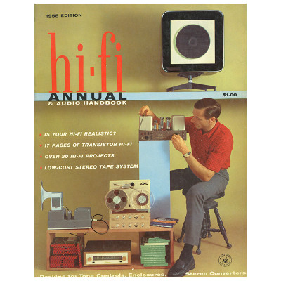 The Eames speakers were visually unusual, new and modern and were a popular choice for publications like this 1958 edition of hi-fi annual