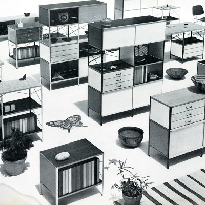 This 1952 Herman Miller catalog Image detailed the sheer versatility of the range from small through to large