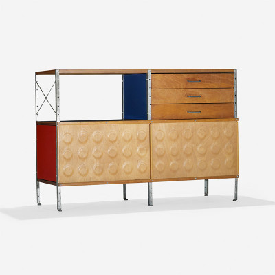 This 200 series Eames ESU unit is model 230-c with an additional set of draws added by customization