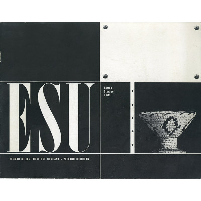 This ESU product brochure was released in 1950 alongside the product and was designed in house at the Eames OFfice