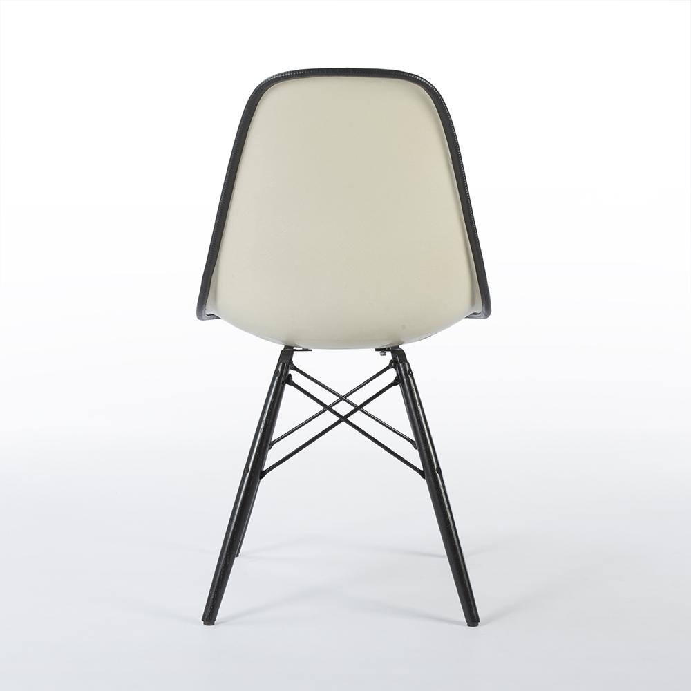 Black 1960s Herman Miller Eames DSW Dowel Side