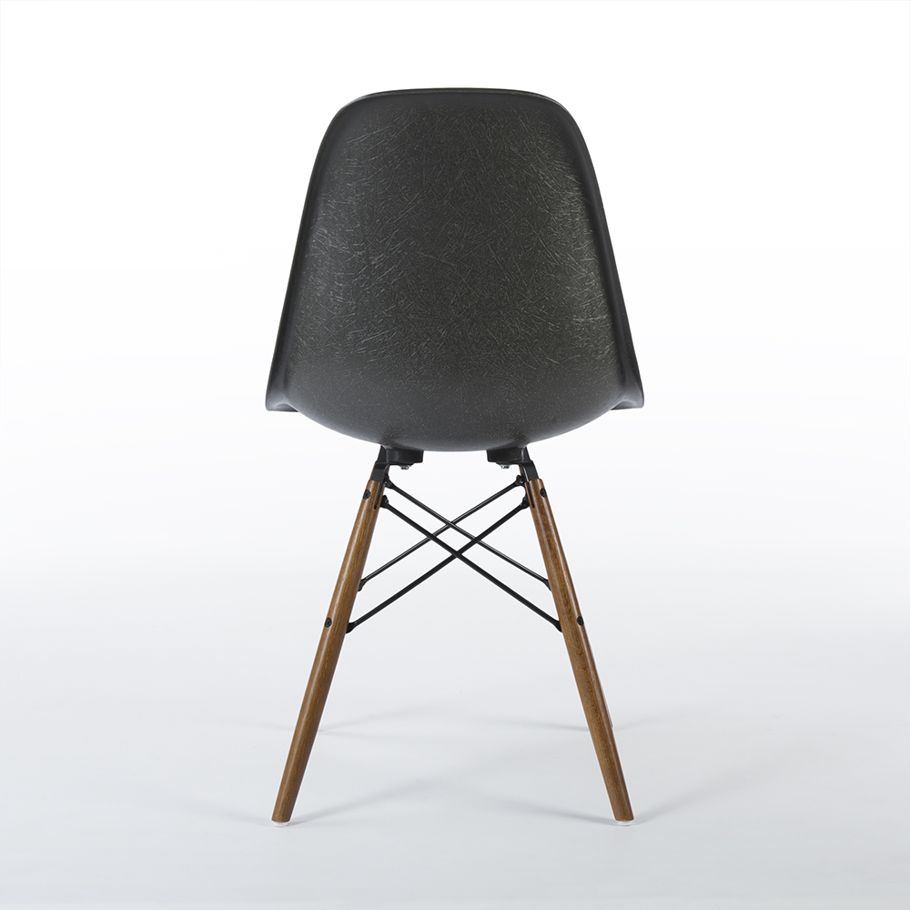 Elephant Hide Grey 2010s Vitra Eames DSW Dowel Side Chairs in excellent condition
