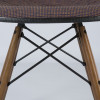 Orange 1970s Herman Miller Eames DSW Dowel Side Chairs in very good condition thumbnail