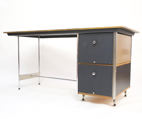 A D-20-N, second generation EDU denoted by the 2 black file drawers, polished frame and circular draw pulls (Image courtesy of D Rose Modern)