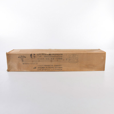 Evans products supplied the splints to the US Navy in boxes 6 fully wrapped splints inside.