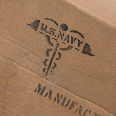 The boxes of the Evans made splints were clearly identified as being made for the US Navy.