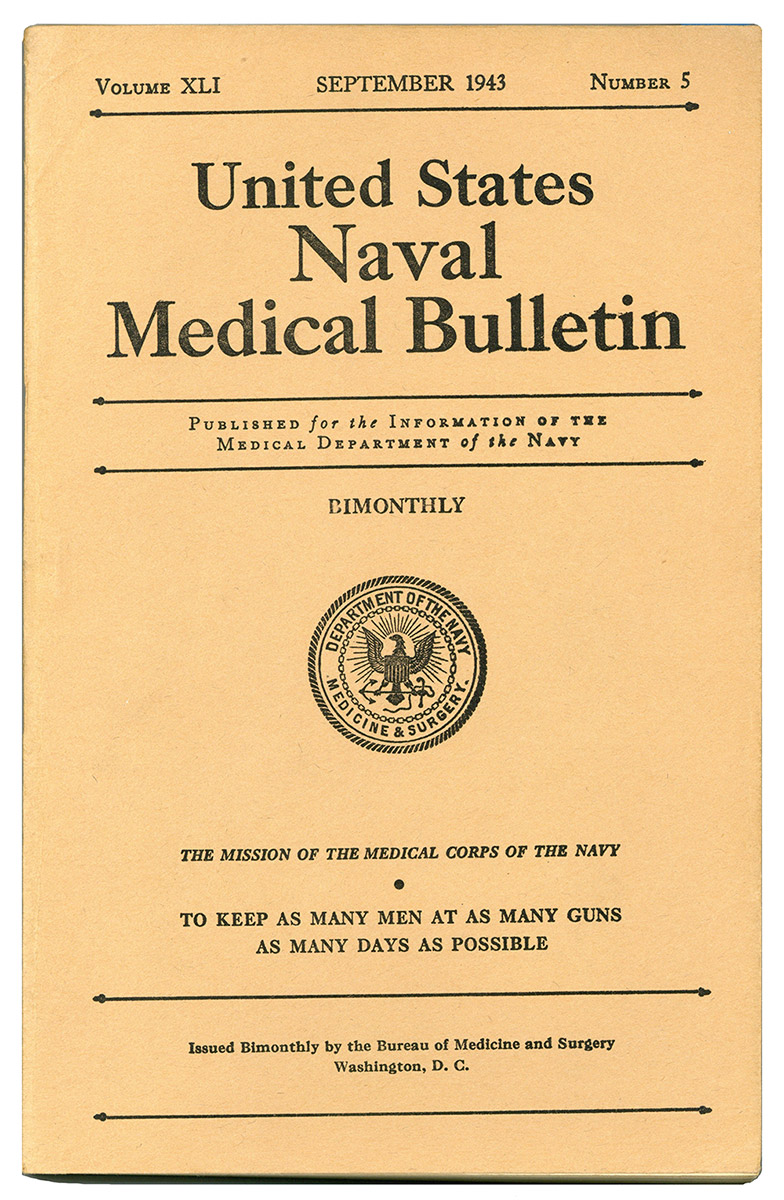 The US Navy Medical Bulletin was produced to keep war time doctors in the field abreast of medical developments including the new splint