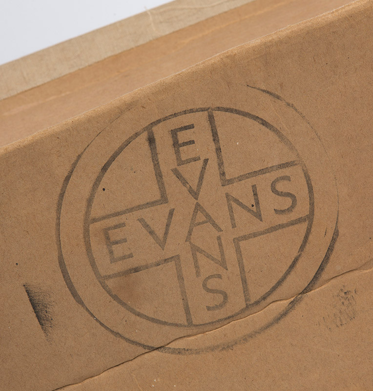 Evans Products, the US plywood giant, was the supplier of the materials and finished product to the US Navy, denoted by stamp on the splint boxes and labels.