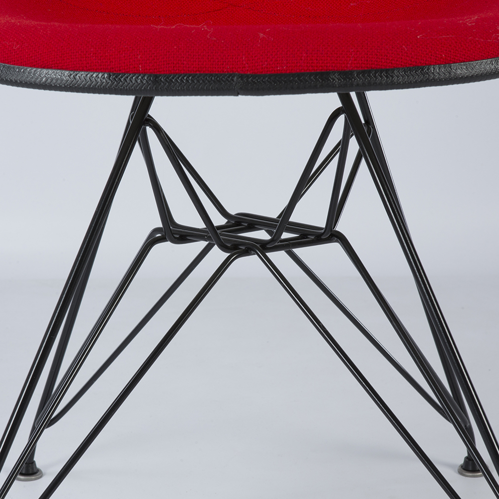 Red 1970s Herman Miller Eames DSR Eiffel Side