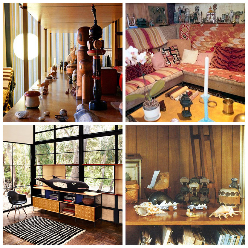 The Eames House is awash with an eclectic collection of objects which are largely unique and almost entirely artistic