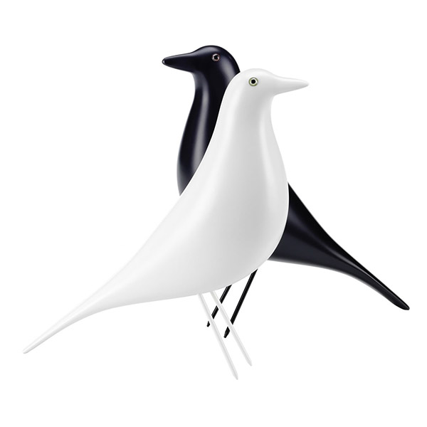 Vitra started producing the Eames House Bird with a polarized white lacquered finish