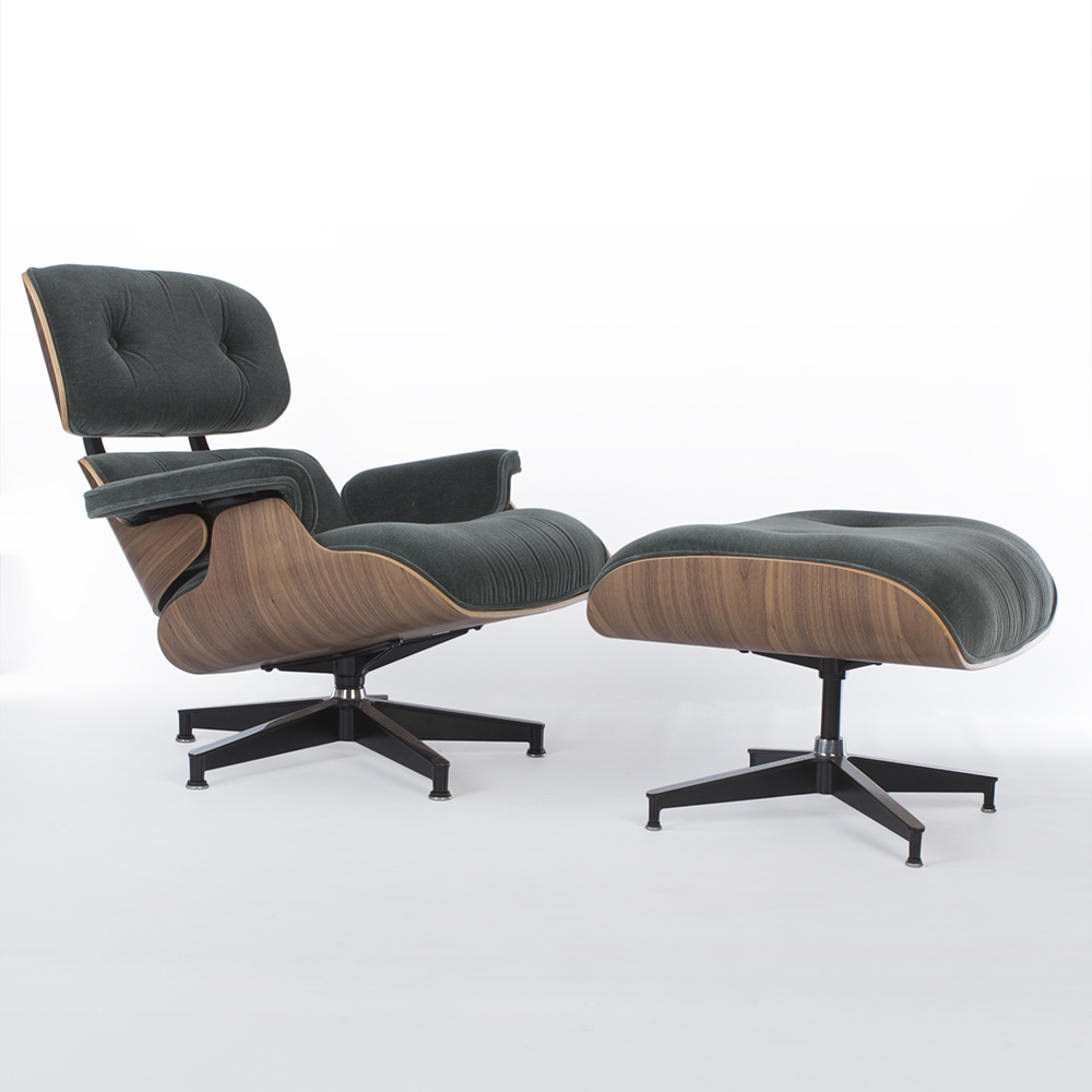 Green 2010s Herman Miller Eames Lounge Chair & Ottoman Lounge Seating in excellent condition