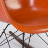 Orange 1960s Herman Miller Eames RAR Rocking Arm Chairs in very good condition thumbnail