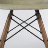 Raw Umber Grey 1960s Herman Miller Eames DSW Dowel Side Chairs in very good condition thumbnail