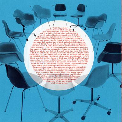Original Herman Miller brochure with DSS alongside other in plastic range