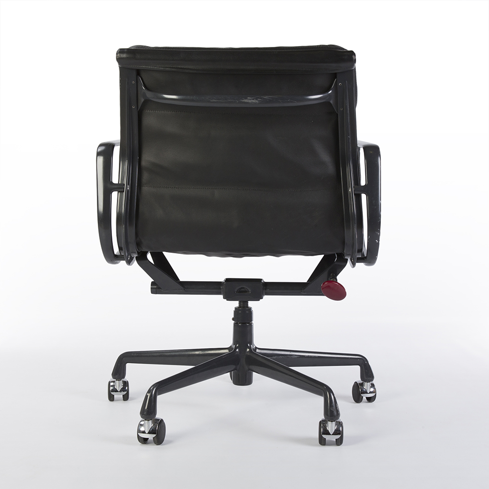 Black 2000s Herman Miller Eames Soft Pad low Back Side Chair