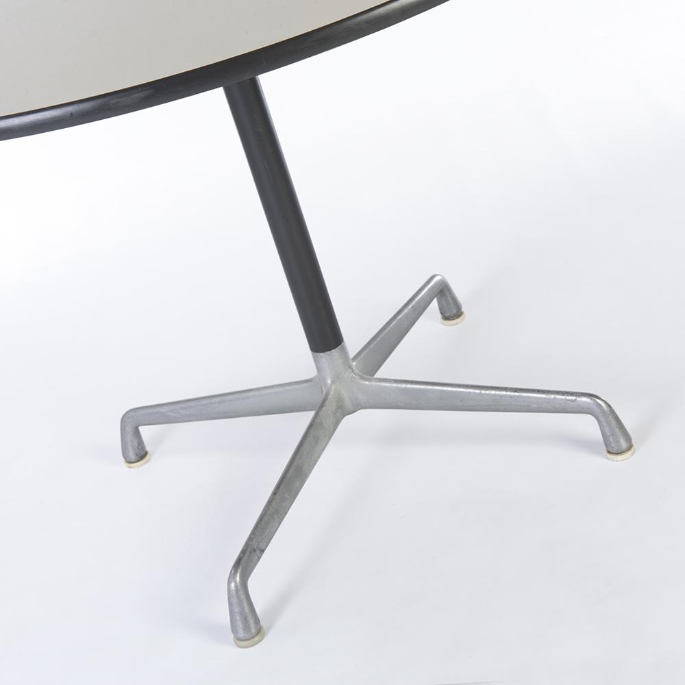 White 1977 Herman Miller Eames Universal Base Dining & Work Tables