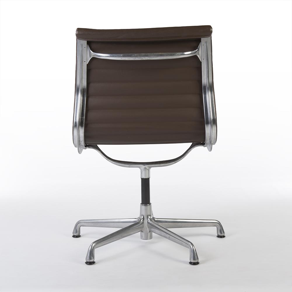 Brown 2008 Herman Miller Eames Alu Group Low Back Side Chair