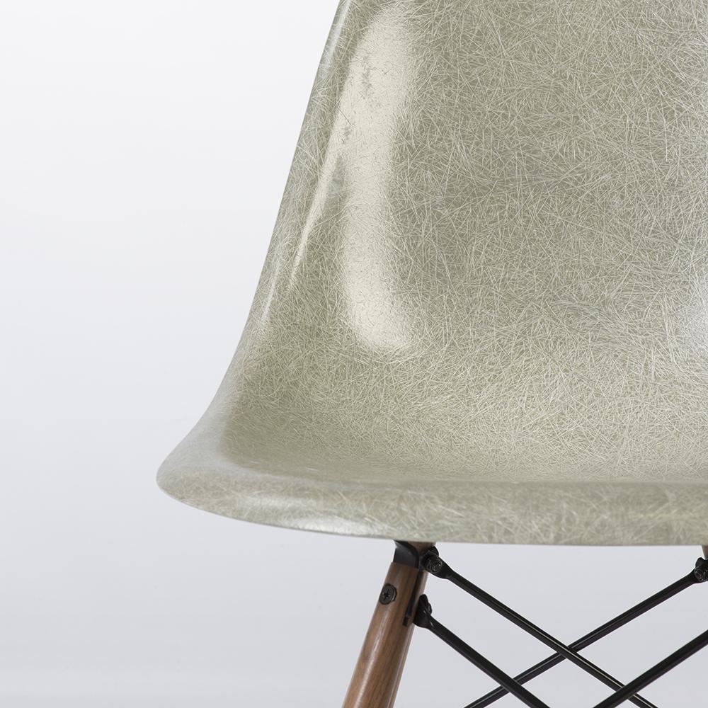 Sea Foam Green 1960s Herman Miller Eames DSW Dowel Side