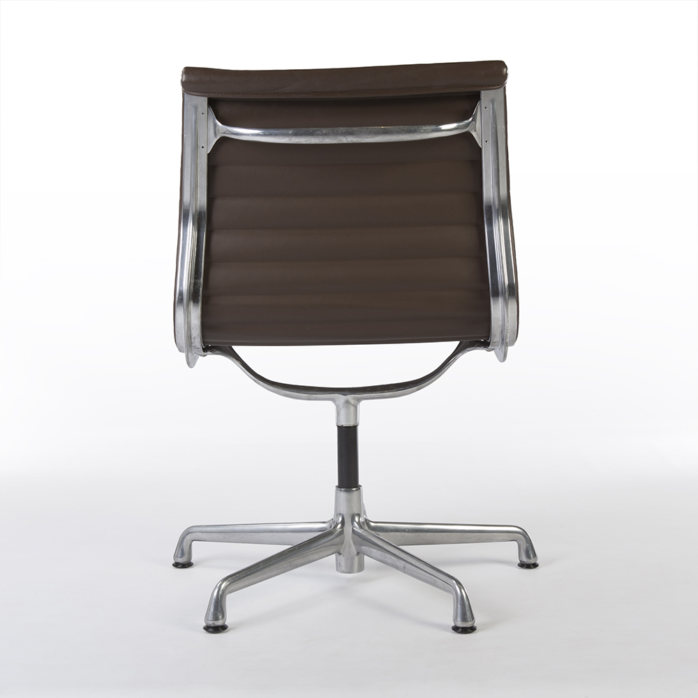 Brown 2008 Herman Miller Eames Alu Group Low Back Side Chair