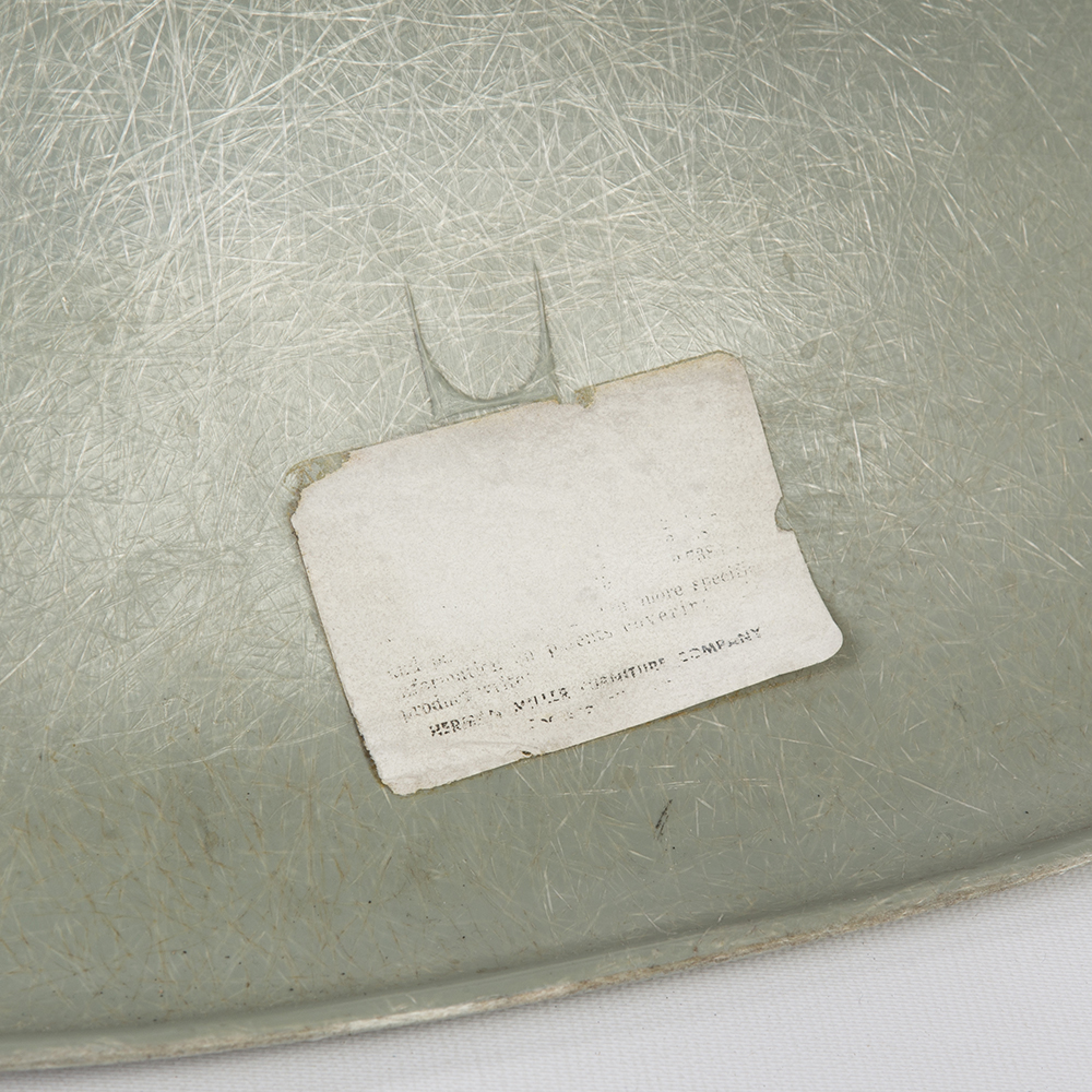 Sea Foam Green 1960s Herman Miller Eames DSW Dowel Side