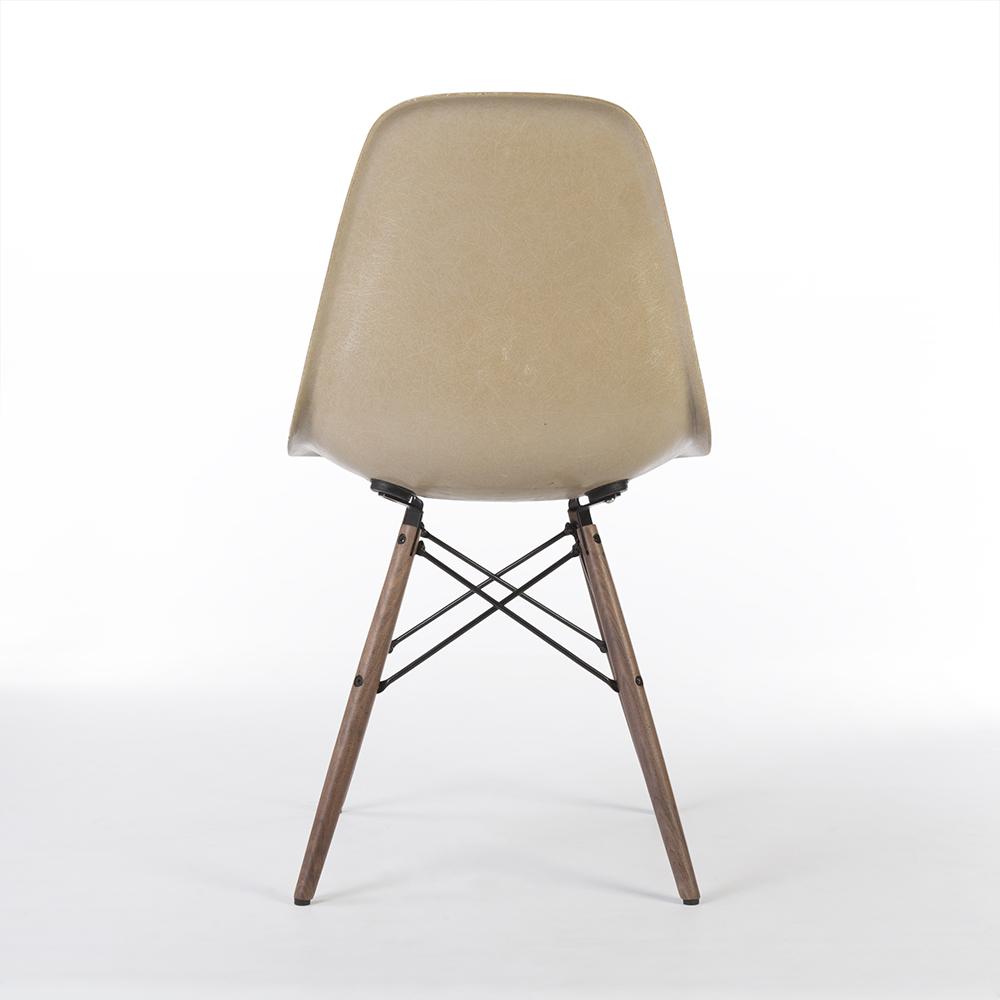 Greige 1960s Herman Miller Eames DSW Dowel Side
