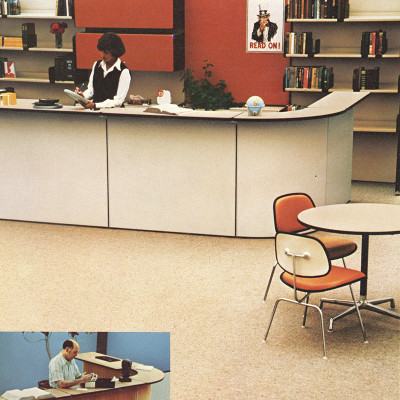 Extract of original 1970's Herman Miller brochure page featuring DCMU chairs