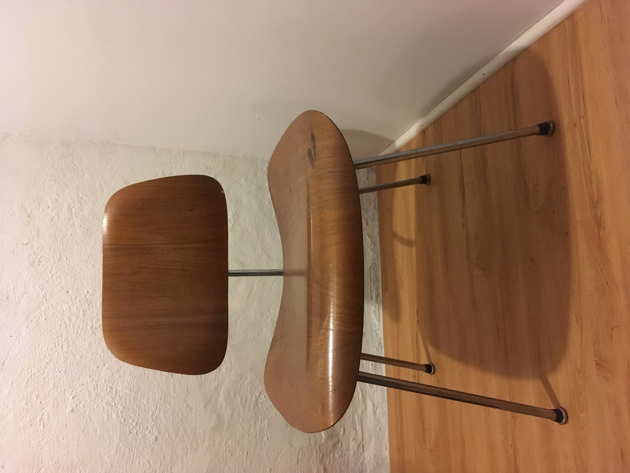 Wooden 1960s Herman Miller Eames LCM - Ply Lounge Chair Metal