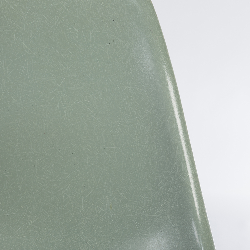 Sea Foam Green 1960s Eames DSW Dowel Side