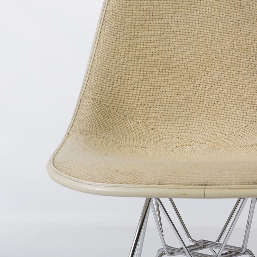 Parchment White 1970s Herman Miller Eames DSR Eiffel Side