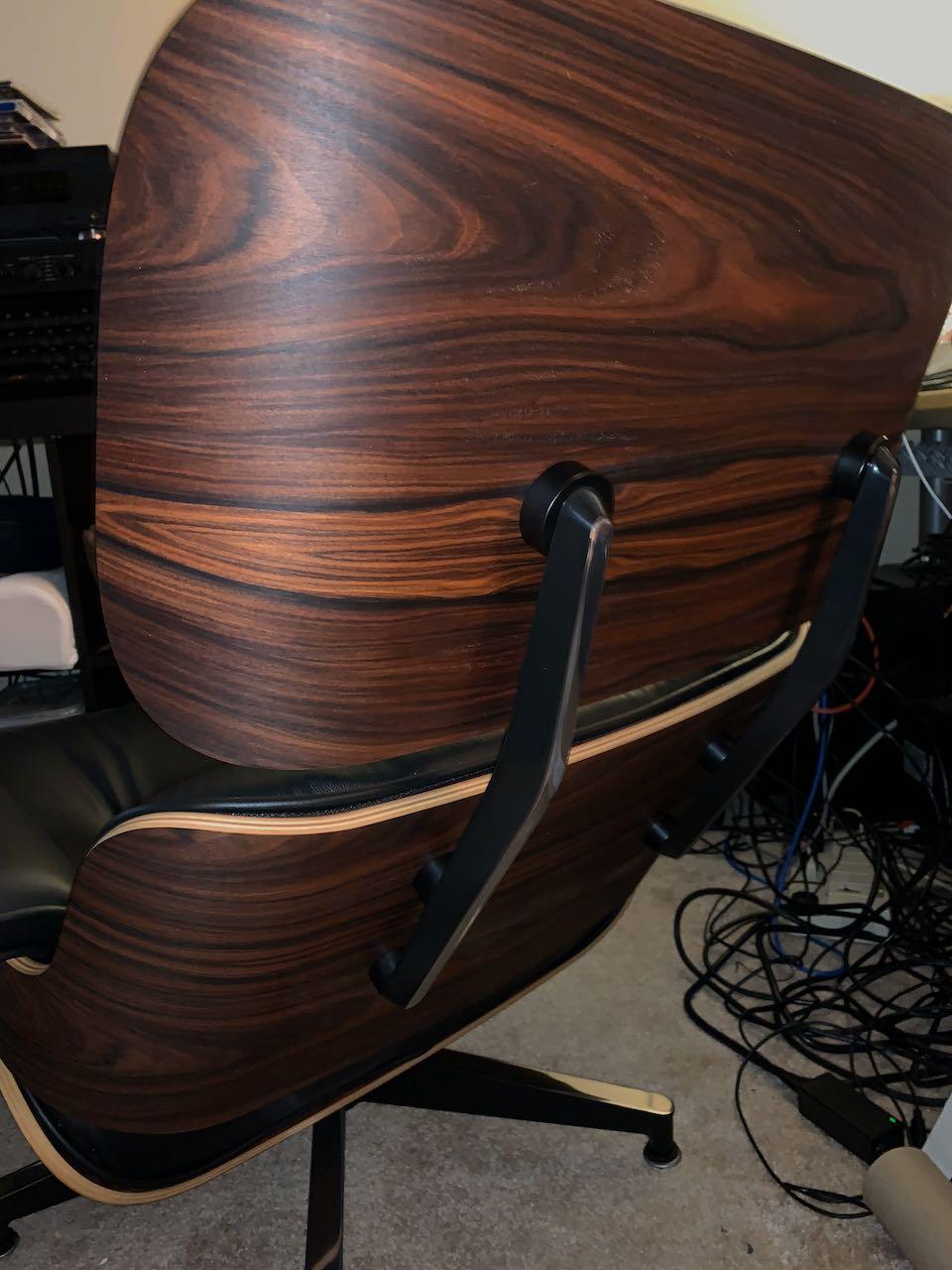 Wooden 2010s Herman Miller Eames Lounge Chair & Ottoman