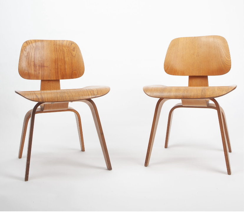 Wooden 1960 Herman Miller Eames DCW - Ply DiningChair Wood
