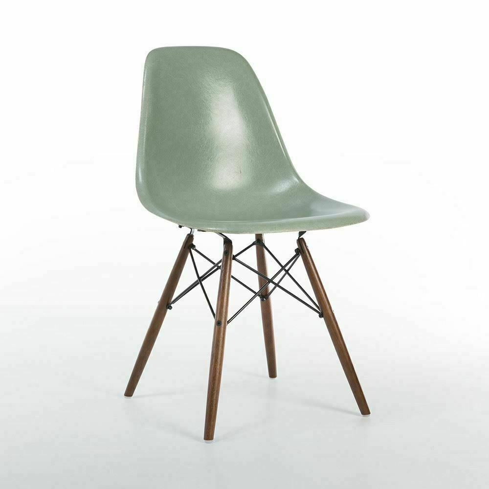 Sea Foam Green Vitra Eames DSW Dowel Side