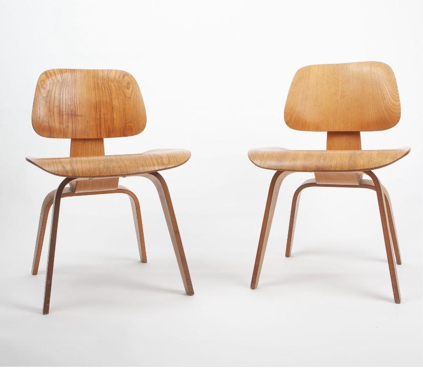 Wooden 1960s Herman Miller Eames Lounge Chair & Ottoman