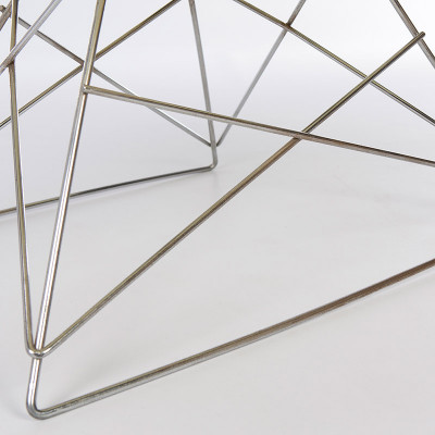 Close up of Eames LAR wire rod base in Zinc Plate