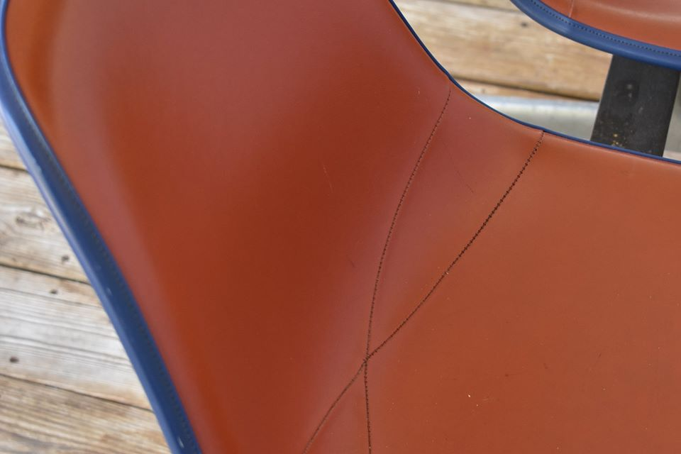 Red 1962 Herman Miller Eames Tandem Seating