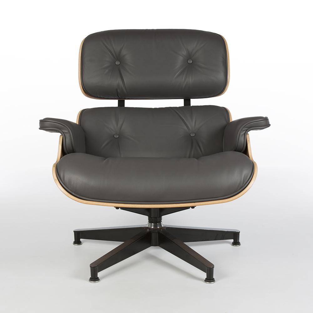 Grey Light 2010s Herman Miller Eames Lounge Chair & Ottoman