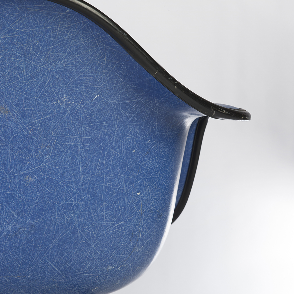 Blue 1970s Herman Miller Eames RAR Rocking Arm