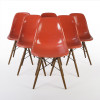 Orange 1960s Herman Miller Eames DSW Dowel Side thumbnail