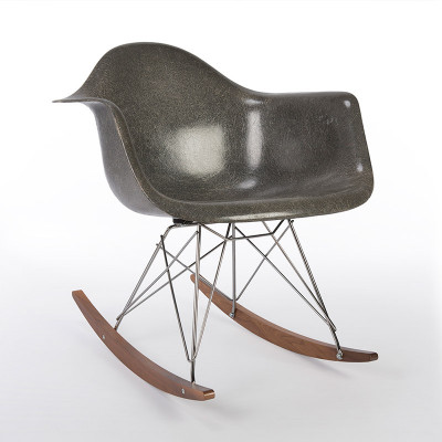 Elephant Hide Grey Eames RAR Rocking Chair