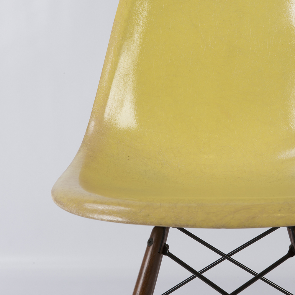 Lemon Yellow Herman Miller Eames DSW Dowel Side