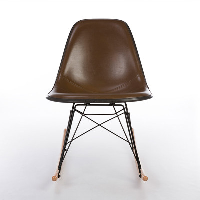 Front view of Eames RSR, Upholstered 70's top on later replacement base