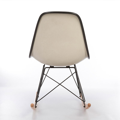 Rear view of Eames RSR Rocking side chair