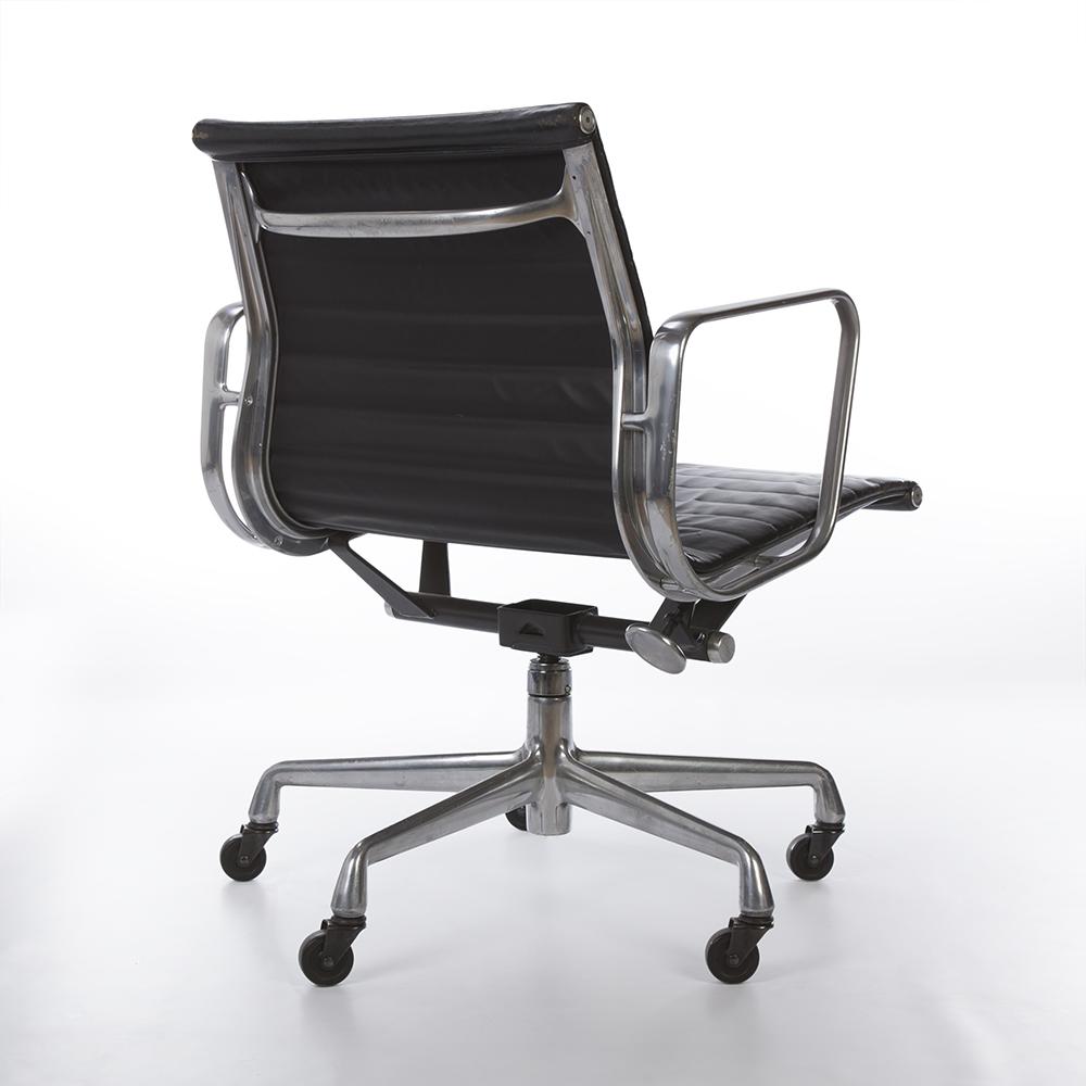 Black 2000s Herman Miller Eames Alu Group Low Back Side Chair
