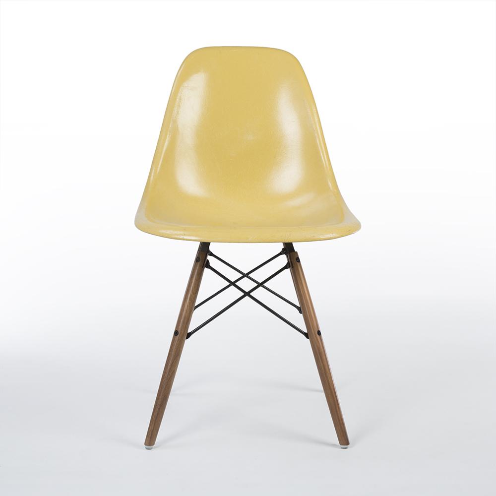 Ochre Light Yellow Herman Miller Eames DSW Dowel Side